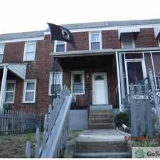 Rental info for Nice rowhome with finished basement and hardwood floors! in the Baltimore area