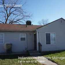 Rental info for 4802 East 34th Street in the Indianapolis area