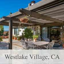 Rental info for Beautiful Westlake Village House For Rent