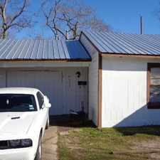 Rental info for REMODELED: 3 beds, 1-1/2 bath. 1 car garage. 1,300 sf. Living rm, Dining area. Gas stove, fridge, microwave, NEW ROOF, tile floors, washer & dryer conns., Central air & Heat, well insulated, fenced yard, quiet neighborhood. in the Houston area