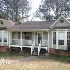 Rental info for Spacious home in Grayson Valley in the Birmingham area