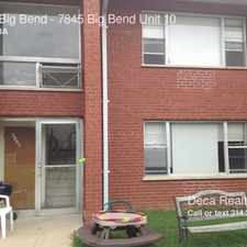 Rental info for 7845 Big Bend in the Webster Groves area