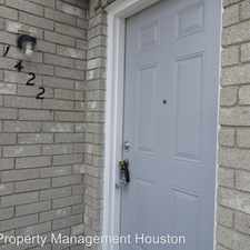 Rental info for 9797 Leawood Blvd #1422 in the Houston area