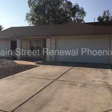 Rental info for 11602 North 67th Drive in the Phoenix area