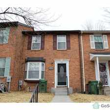 Rental info for Beautifully Remodeled Townhouse in the Baltimore area
