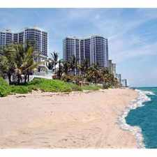 Rental info for 2/2 LUXURY OCEAN FRONT- MOST DESIRED BUILDING $5,000 Mo. SEE PHOTOS & REMARKS*** in the Fort Lauderdale area