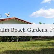 Rental info for Ready For A New Tenant! in the Palm Beach Gardens area