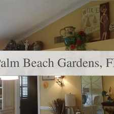 Rental info for Pet Friendly 2+2 House In Palm Beach Gardens. W... in the Palm Beach Gardens area