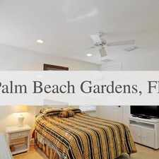 Rental info for House In Move In Condition In Palm Beach Garden... in the Palm Beach Gardens area