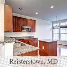 Rental info for Townhouse For Rent In Reisterstown.