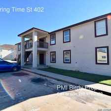 Rental info for 6551 Spring Time St 402 in the San Antonio area