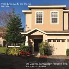 Rental info for 1137 Andrew Aviles Circle in the Tampa area