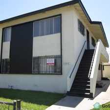Rental info for Spacious 2 Bedroom Apartment Washer & Dryer on the Premises Fully Secured Building Brand New Wall to Wall Carpeting Brand New Vertical Blinds Completely Redecorated.Stove & Refrigerator Available in the Los Angeles area