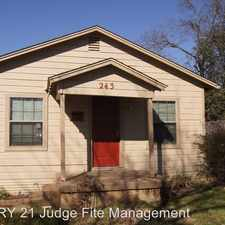 Rental info for 243 Moore Street in the Dallas area