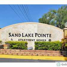 Rental info for Sand Lake Pointe offers you a tranquil community setting that will welcome you home from the daily challenges of your stress filled day. Combine this with a convenient location, world-class amenities, and spaciously designed living spaces. in the Orlando area
