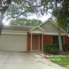 Rental info for 12923 MAPLE PARK DR in the San Antonio area