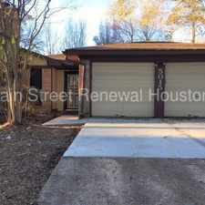 Rental info for 5015 Monteith Drive in the Houston area