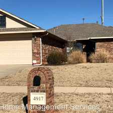 Rental info for 4917 NW 164th Terrace in the Oklahoma City area