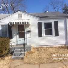 Rental info for 10112 Cabot Dr. in the St. Louis area