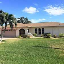 Rental info for Gulf Access Pool Home in the Cape Coral area