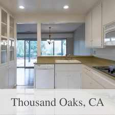 Rental info for Amazing 4 Bedroom, 2.50 Bath For Rent. Will Con... in the Thousand Oaks area