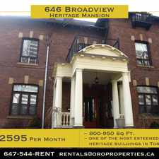 Rental info for 646 Broadview Avenue #100B in the North Riverdale area