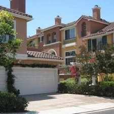 Rental info for Beautiful Private Corner End Unit With No One A... in the Irvine area