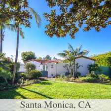 Rental info for Gorgeous Santa Monica, 3 Bedroom, 2 Bath in the Los Angeles area
