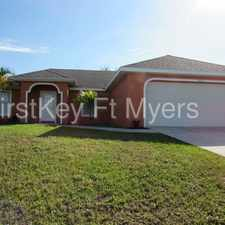 Rental info for 1810 Northwest 21st Terrace in the Cape Coral area