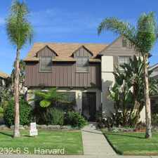 Rental info for 232-236 S. Harvard Blvd. in the Los Angeles area