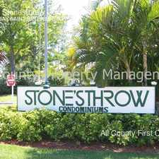 Rental info for 6908 Stonesthrow Cir. in the St. Petersburg area