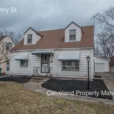 Rental info for 5219 Henry St in the Cleveland area