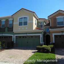 Rental info for 4927 Matteo Trail in the Millenia area