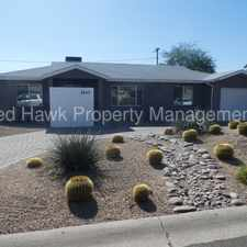 Rental info for Remodeled Three Bedroom, Two Bathroom Scottsdale Rental Opportunity in the Phoenix area