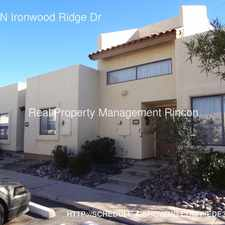 Rental info for 2500 N Ironwood Ridge Dr in the Tucson area