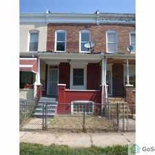 Rental info for 3Br + DEN Town home in West Baltimore in the Baltimore area