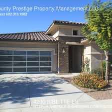 Rental info for 4200 S BUTTE LN in the Chandler area