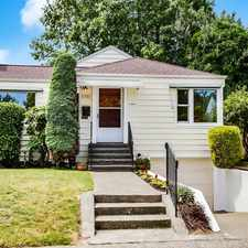Rental info for 8351 22nd Avenue Northwest in the Loyal Heights area