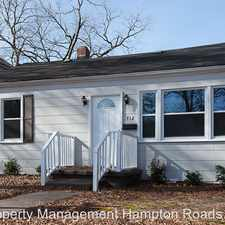 Rental info for 712 Vermont Avenue in the Chesapeake area