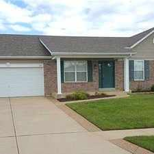 Rental info for Move-in Ready Three Bedroom Home In Wentzville ...