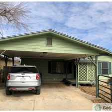 Rental info for This is a beautiful 1955 Square foot 4 Bedroom house with a 1.5 bath. Complete with a privacy fence and a very large area in the back, 2 covered parking space and storage shed. Floor has been renovated in the San Antonio area