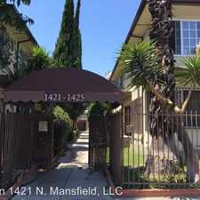 Rental info for 1421 N. Mansfield Ave. in the Los Angeles area
