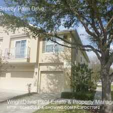Rental info for 6713 Breezy Palm Drive in the Tampa area