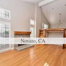 Rental info for Contemporary Home In Quiet Area Of, Backs To Op... in the Novato area