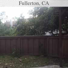 Rental info for Townhouse For Rent In. Pet OK! in the Fullerton area