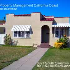 Rental info for 3821 South Cimarron Street in the Los Angeles area