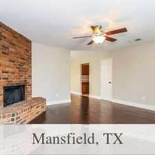 Rental info for Beautiful Mansfield House For Rent in the Fort Worth area