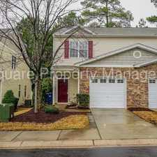 Rental info for End Unit | 3 Bedrooms | 2.5 Baths | One Car Garage | 1412 SqFt in the Raleigh area