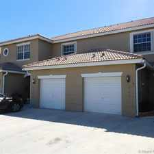 Rental info for 12192 Southwest 5th Court in the Pembroke Pines area