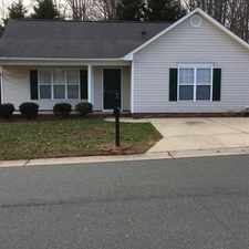 Rental info for Newer Home In Newer Subdivision in the Winston-Salem area